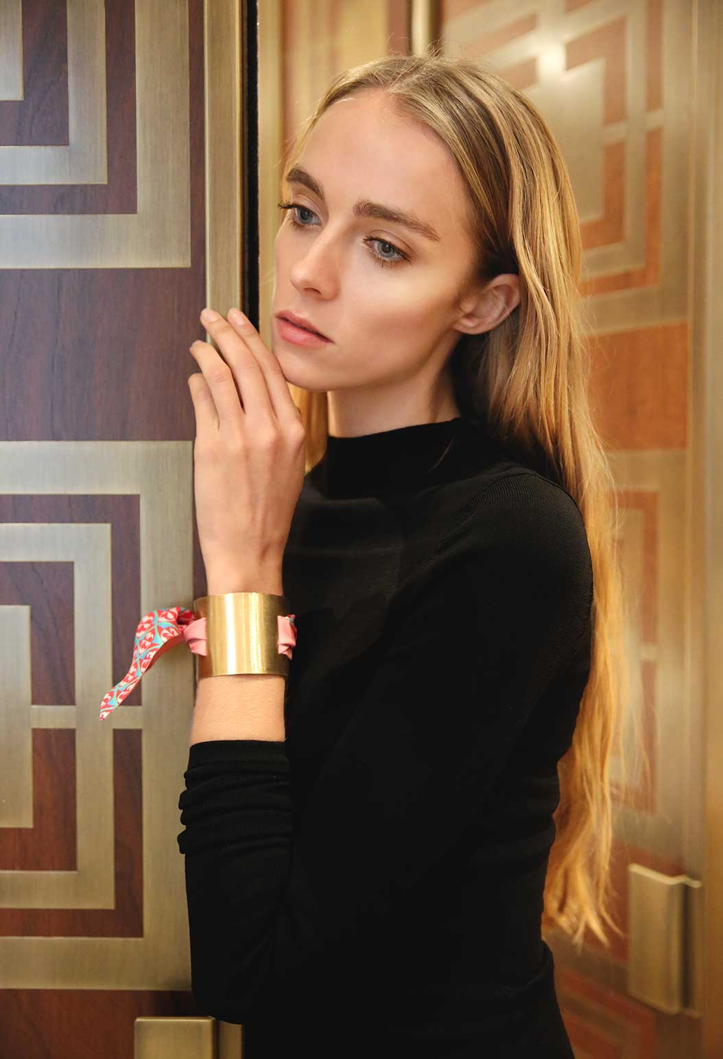 Gorgeous is Golden Lula Mak in Nomad Cuff's Fifth Element